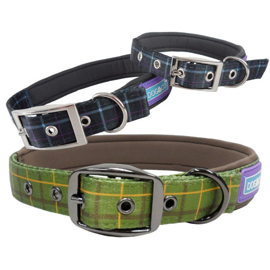 Picture of Country Check Padded Dog Collar